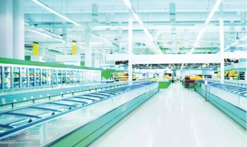 100-Store Grocery Retailer Switches to 28W T8s